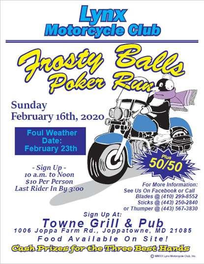 Frosty Balls 2020 Poker Run